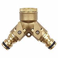 Verve 2-way hose pipe connector