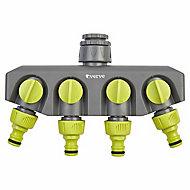 Verve Green & grey 4-way hose pipe connector (W)560mm