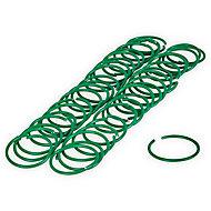 Verve Green Plastic Hoop plant tie, Pack of 50