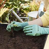 Verve Nylon Green, blue & purple Gardening gloves, Medium