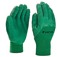 Verve Polyester (PES) Green Gardening gloves, Small
