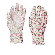 Verve Polyester (PES) Pink Gardening gloves, Medium
