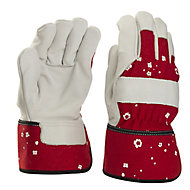 Verve Red & white Gardening gloves, Small