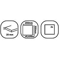 Victoria Black Matt Slate effect Porcelain Outdoor Floor Tile, Pack of 2, (L)900mm (W)450mm
