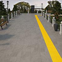 Victoria Grey Matt Slate effect Porcelain Outdoor Floor Tile, Pack of 2, (L)900mm (W)450mm
