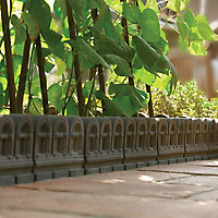 Victorian Traditional Single sided Grey Paving edging (H)220mm (W)450mm (T)50mm