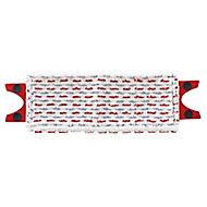 Vileda 12 Spray White, red & grey Microfibre Mop head refill, (W)340mm