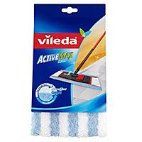 Vileda ActiveMax Blue & white Microfibre Mop head refill, (W)175mm