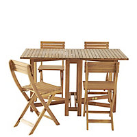 Virginia Wooden 4 seater Dining set