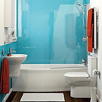 Vistelle High gloss Blue atoll Shower Panel (H)2440mm (W)1220mm (T)4mm