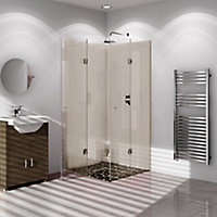 Vistelle High gloss Safari Shower Panel (H)2440mm (W)1000mm (T)4mm