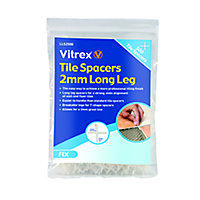 Vitrex LLS2500 Plastic 2mm Tile spacer, Pack of 500