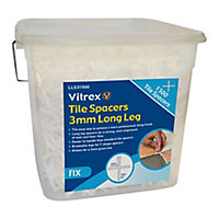 Vitrex LLS31500 Plastic 3mm Tile spacer, Pack of 1500
