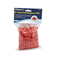 Vitrex WD250 Plastic 5mm Tile wedges, Pack of 250