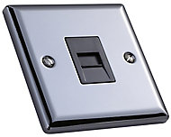 Volex 1 gang Raised Grey iridium effect Telephone socket