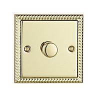 Volex 2 way Single Brass effect Dimmer switch