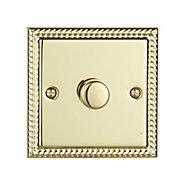 Volex Brass effect Single 2 way Dimmer switch