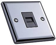 Volex Grey iridium effect 1 gang Raised Telephone socket