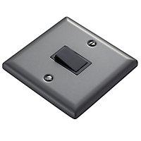 Volex Matt grey pewter effect Single 10A 1 way Light Switch