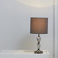 Walkea Stacked Black Chrome effect Halogen Table lamp base