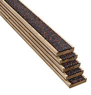 Walksure Spruce Deck board (L)2.1m (W)120mm (T)28mm, Pack of 5