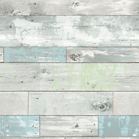 Wallpops Grey Beachwood Smooth Wallpaper