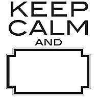 Wallpops Keep calm Black Self-adhesive Wall sticker (H)480mm (W)430mm