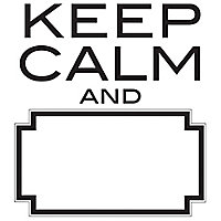 Wallpops Keep calm Black Self-adhesive Wall sticker (H)480mm (W)430mm
