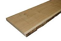 Waney edge Oak Furniture board, (L)1.8m (W)300mm (T)25mm