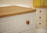 Warwick Matt cream oak effect 3 Drawer Desk (H)795mm (W)1200mm (D)540mm