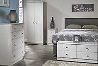 Warwick Matt grey 5 Drawer Tall Chest (H)1075mm (W)395mm (D)415mm
