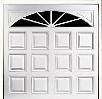 Washington Made to measure Framed White Retractable Garage door
