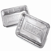 Weber Large Barbecue drip pan, Pack of 10