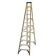 Werner 12 tread Aluminium & fibreglass Step Ladder (H)3.34m