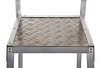 Werner 3 tread Aluminium Platform step Ladder (H)1.54m