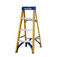 Werner 4 tread Fibreglass Step Ladder (H)1.12m