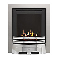 Westerly Glass Fronted Chrome effect Gas Fire