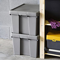 Wham Upcycled Heavy duty Cement grey Stackable Storage box