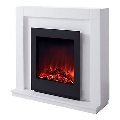 White Electric Fire Suite Diy At B Q