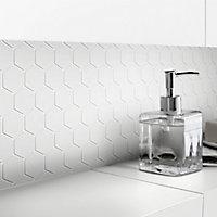 White Glass Mosaic tile sheets, (L)300mm (W)300mm