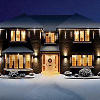 White LED Snowing shower Single Christmas light, Pack of 5