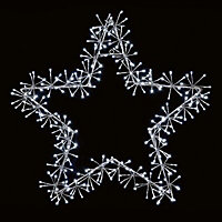 White LED Star cluster Silhouette