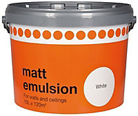 White Matt Emulsion paint, 10L