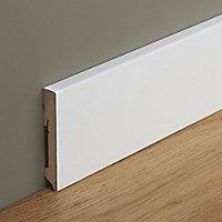 White MDF Skirting board (L)2.2m (W)100mm (T)16mm