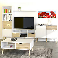 White & Oak Effect TV stand 2.6kg