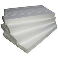 White Polystyrene Insulation board, (L)610mm (W)402mm