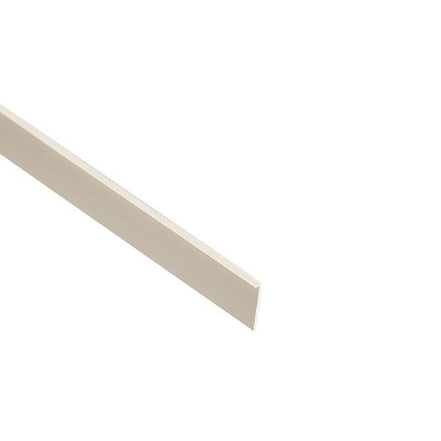 White Pvc Moulding L 2 4m W 16mm T 5mm Diy At B Q