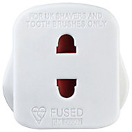 White Shaver socket