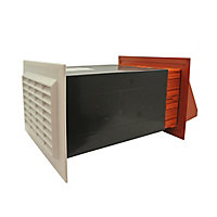 White & terracotta Flueless Gas fire Air vent, (H)195mm (W)270mm