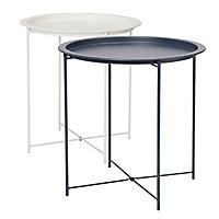 White Tray table (H)50cm (W)47cm